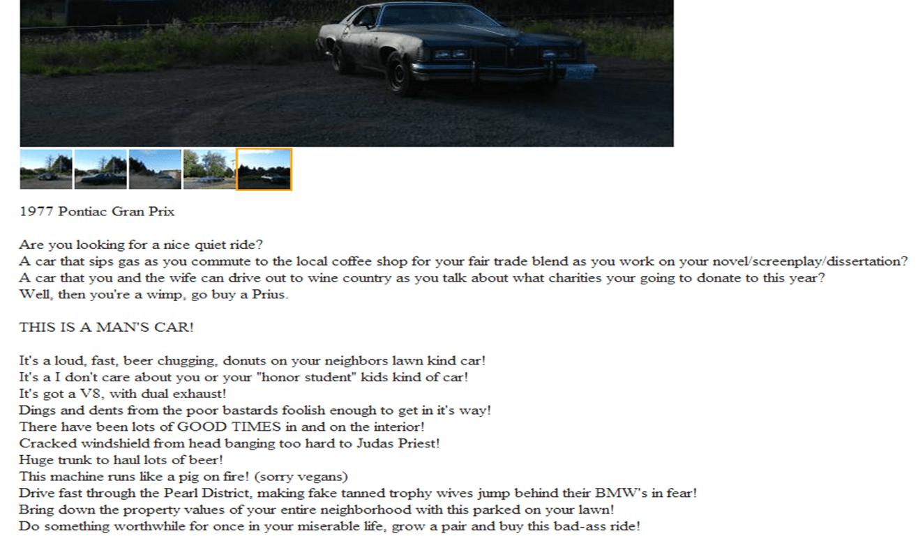1977 pontiac gran prix craigslist funny.png