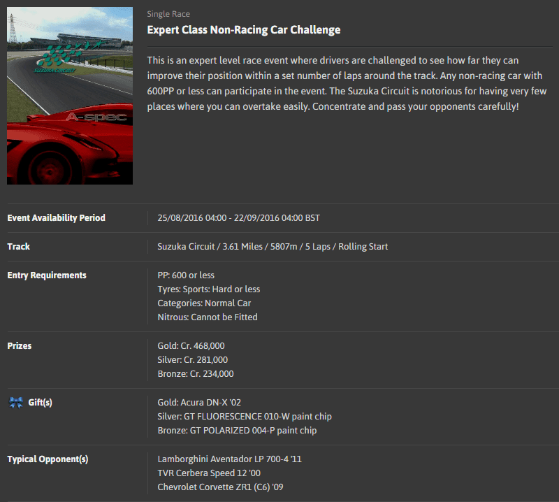 A-spec #44 Expert Level Non-Racing Car Challenge @ Suzuka Circuit.png