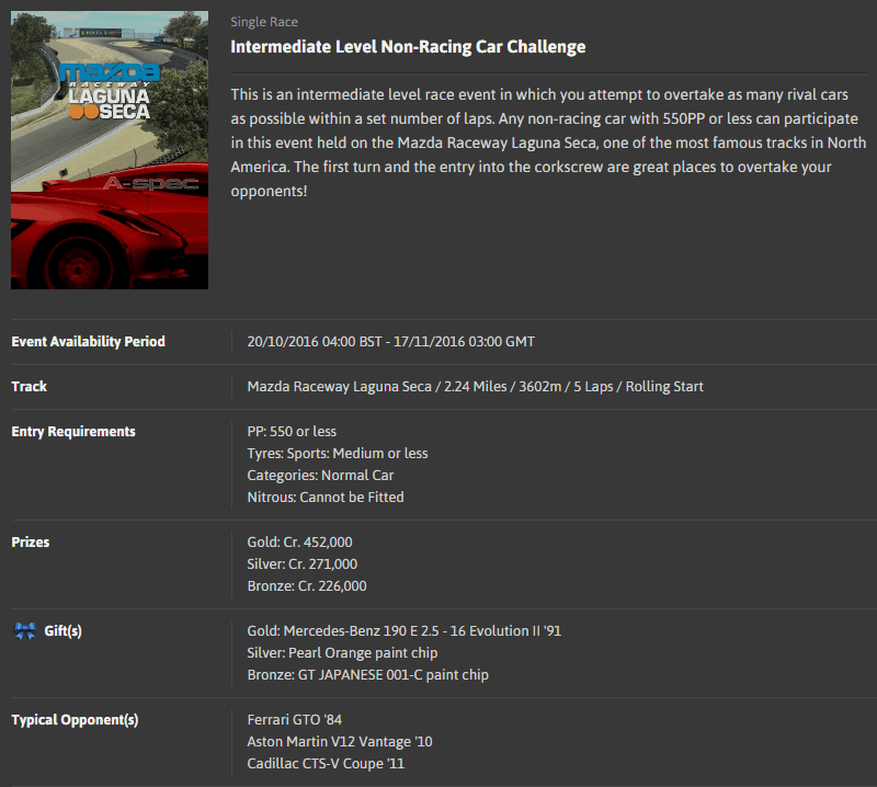 A-spec #46 Intermediate Level Non-Racing Car Challenge @ Mazda Raceway Laguna Seca.png