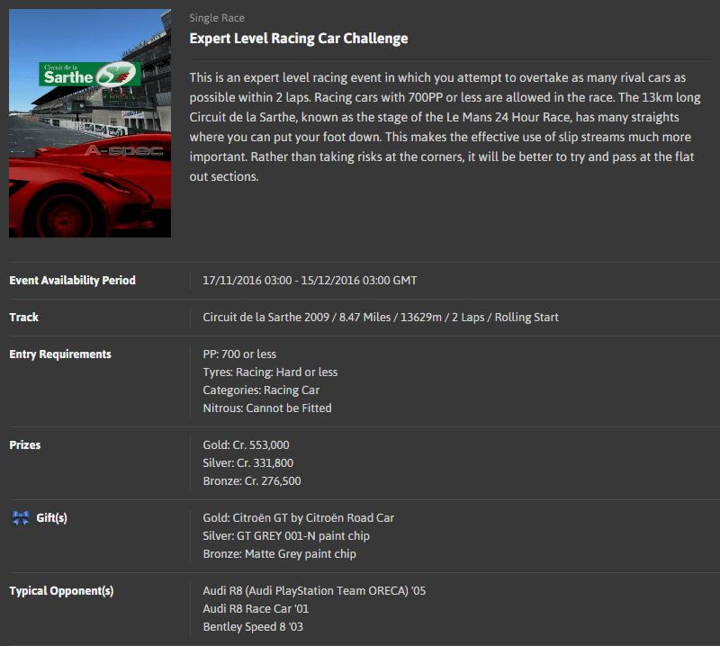A-spec #47 Expert Level Race Car Challenge @ Circuit de la Sarthe 2009.png