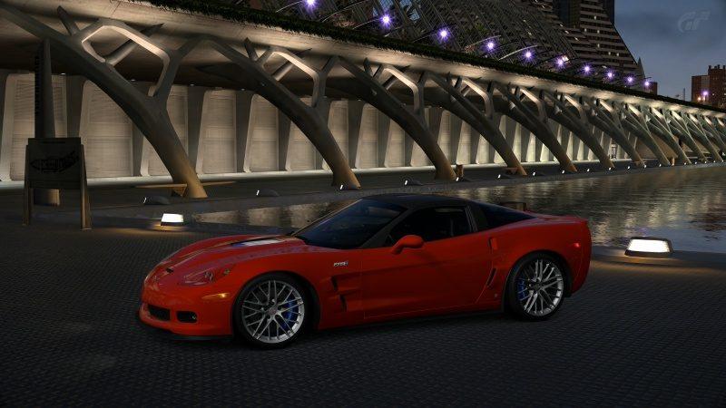 Chevrolet Corvette ZR1 (C6) '09-At City of Arts and Sciences Night.jpg