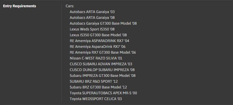 DT#59 - GT300 Racing Car Drift Trial @ London - ER Cars List.png