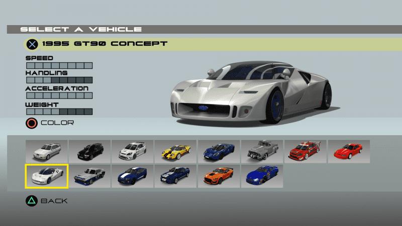Ford Racing 3 Menu Remake - Car Selection.png