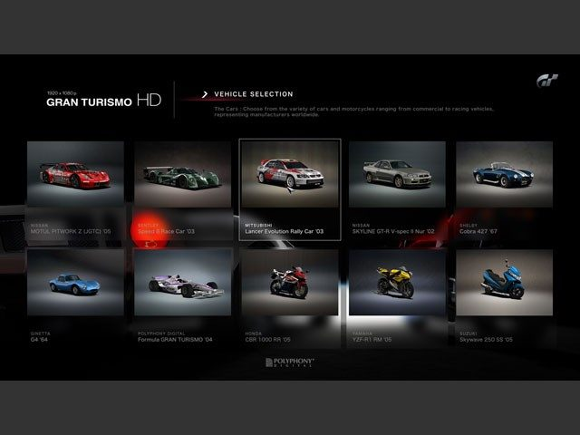 Gran Turismo HD (Car Selection).jpg