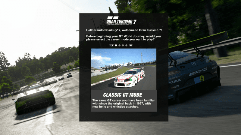 GT7 - Career Mode Selection V3 - Classic GT mode.png