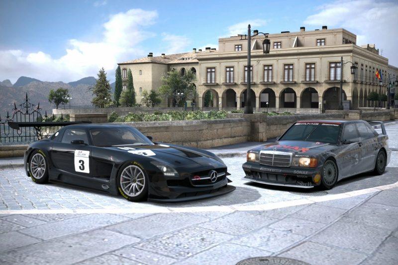 Merc SLS and 190 E - Ronda.jpg