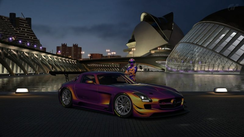 Mercedes-Benz SLS AMG GT3 '11 Custom Paint Tune Profile-At City of Arts and Sciences Night.jpg