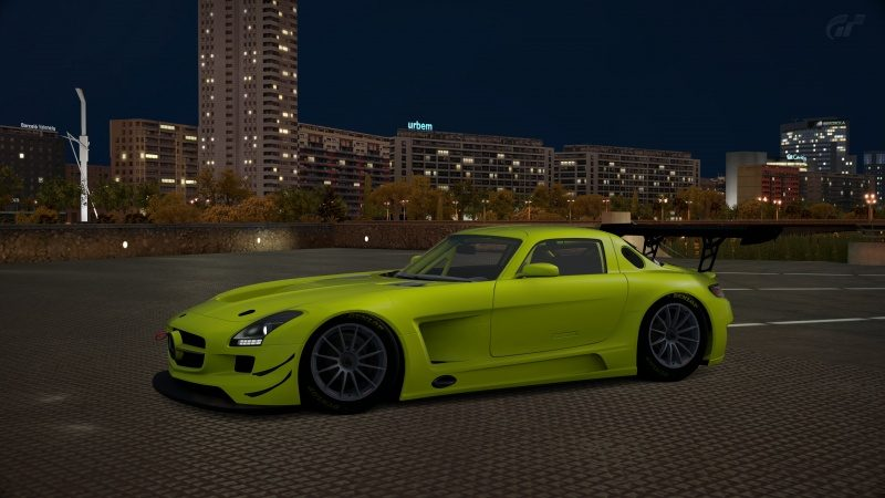 Mercedes-Benz SLS AMG GT3 '11 Tuned With Special Paint-At City of Arts and Sciences Night.jpg