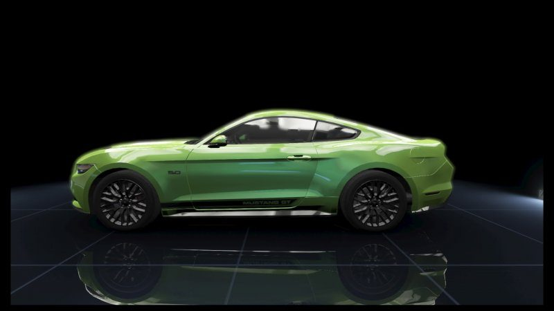 Mustang GT Green Metallic Black Stripes.jpeg
