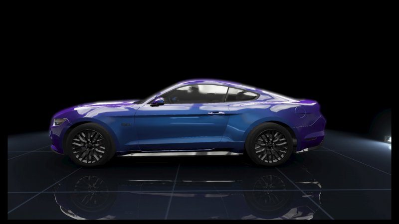 Mustang GT Purple Metallic White Stripes.jpeg
