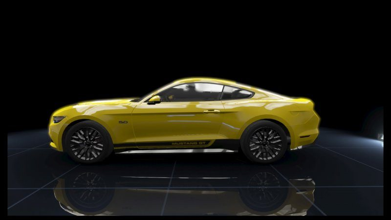 Mustang GT Yellow Black Stripes.jpeg
