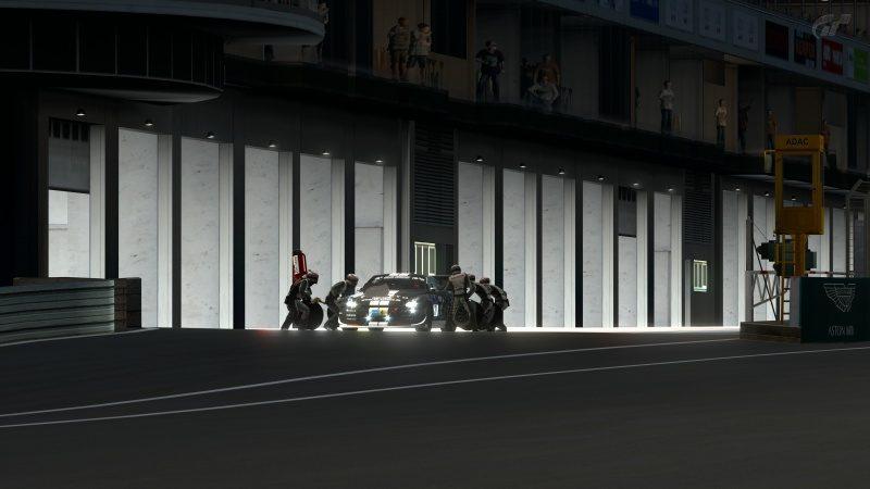 Nissan GT-R N24 Schulze Motorsport '11 (SP8T) Arrival In Pit Station-At Nürburgring 24Hr.jpg