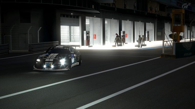 Nissan GT-R N24 Schulze Motorsport '11 (SP8T) Exiting Pit-At Nürburgring 24Hr.jpg