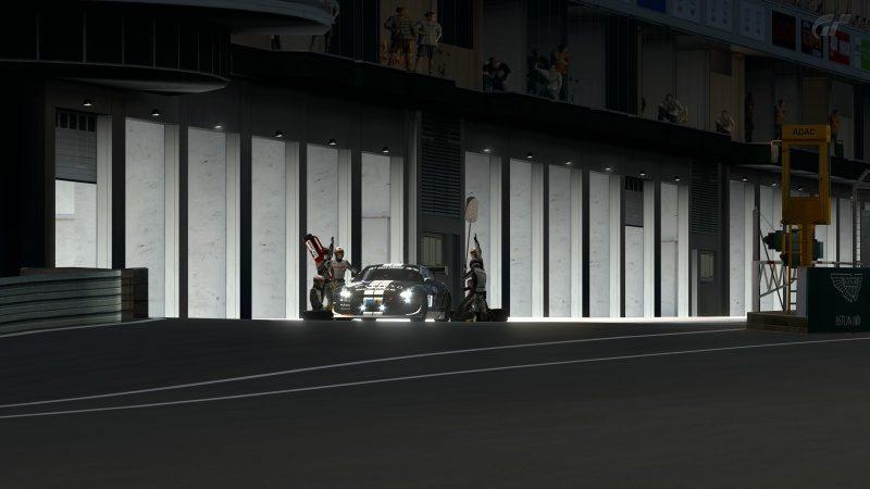 Nissan GT-R N24 Schulze Motorsport '11 (SP8T) Leaving Pit Station-At Nürburgring 24Hr.jpg
