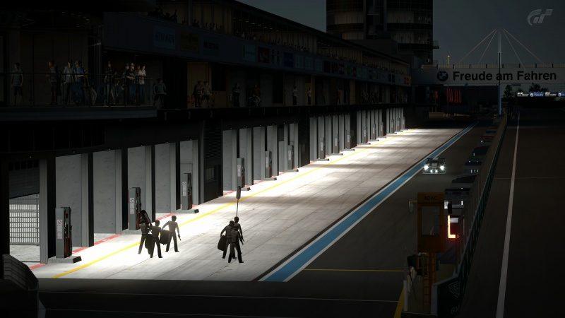 Nissan GT-R N24 Schulze Motorsport '11 (SP8T) Pit Lane Approach-At Nürburgring 24Hr.jpg