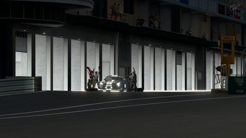 Nissan GT-R N24 Schulze Motorsport '11 (SP8T) Pit Service Completed-At Nürburgring 24Hr.jpg