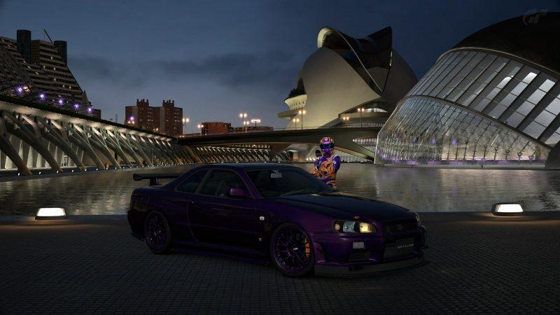 Nissan SKYLINE GT-R V-spec II Nür (R34) '02 Custom Paint Tune Profile-At City of Arts and Sci.jpg