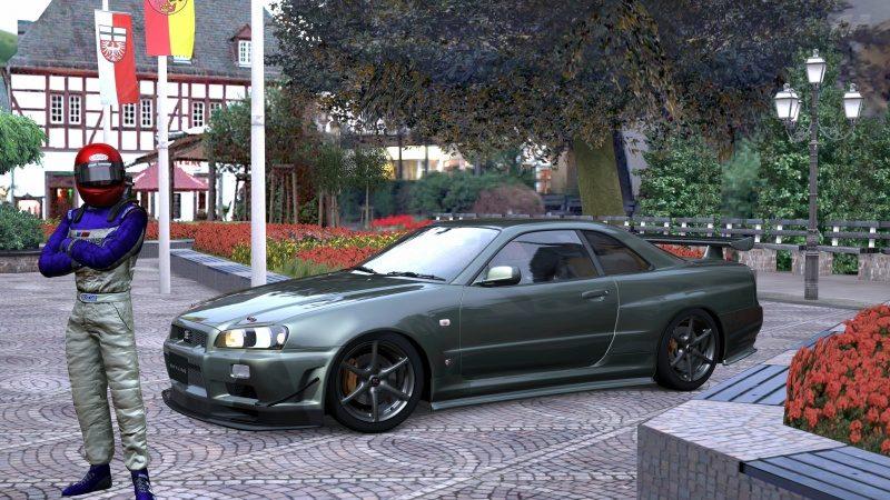 Nissan SKYLINE GT-R V-spec II Nür (R34) '02 Millennium Jade (M) 1.jpg