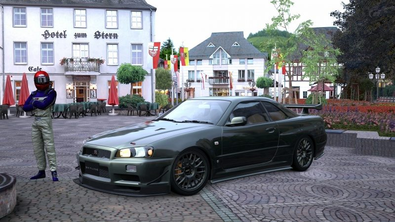 Nissan SKYLINE GT-R V-spec II Nür (R34) '02 Millennium Jade (M) 3.jpg