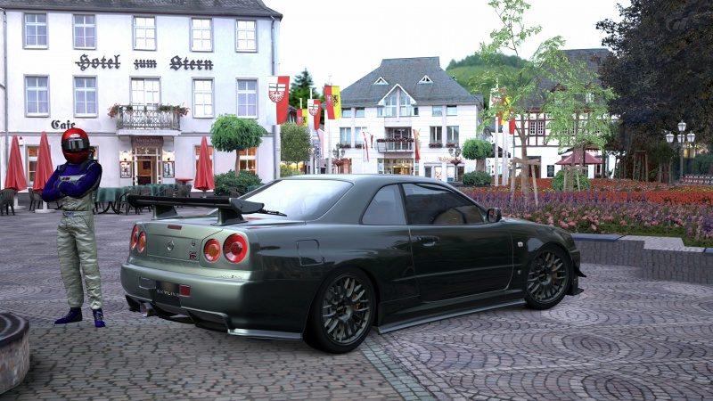 Nissan SKYLINE GT-R V-spec II Nür (R34) '02 Millennium Jade (M) 4.jpg