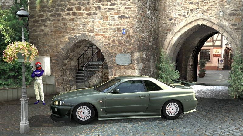 Nissan SKYLINE GT-R V-spec II Nür (R34) '02 Millennium Jade (M) 5.jpg
