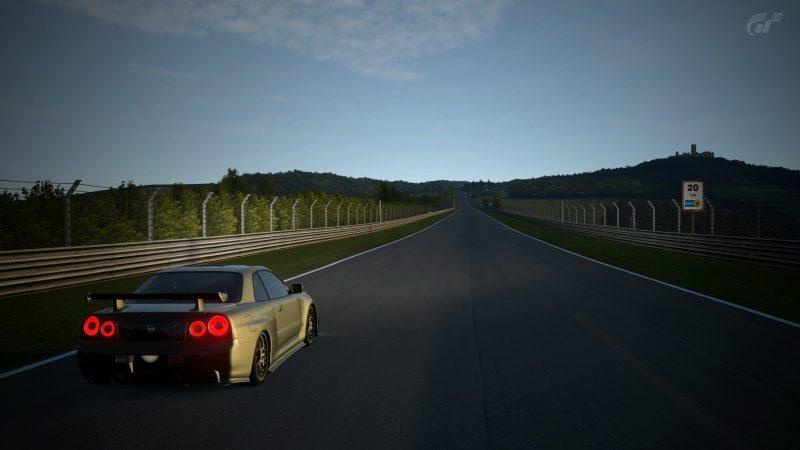 Nissan SKYLINE GT-R V-spec II Nür (R34) '02 Millennium Jade (M)-At Nürburgring Nordschleife 10.jpg