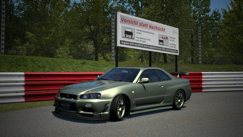 Nissan SKYLINE GT-R V-spec II Nür (R34) '02 Millennium Jade (M)-At Nürburgring Nordschleife 3.jpg
