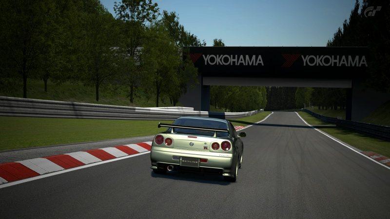 Nissan SKYLINE GT-R V-spec II Nür (R34) '02 Millennium Jade (M)-At Nürburgring Nordschleife 5.jpg