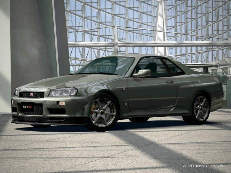 Nissan SKYLINE GT-R V-spec II Nür (R34) '02 (Millennium Jade (M) (Favorite Car).JPG