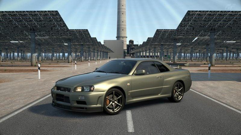 Nissan SKYLINE GT-R V-spec II Nür (R34) '02 Millennium Jade (M) Stock-At Gemasolar.jpg