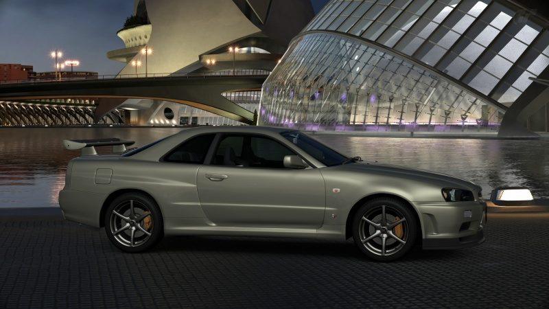 Nissan SKYLINE GT-R V-spec II Nür (R34) '02 Millennium Jade (M) Stock.jpg