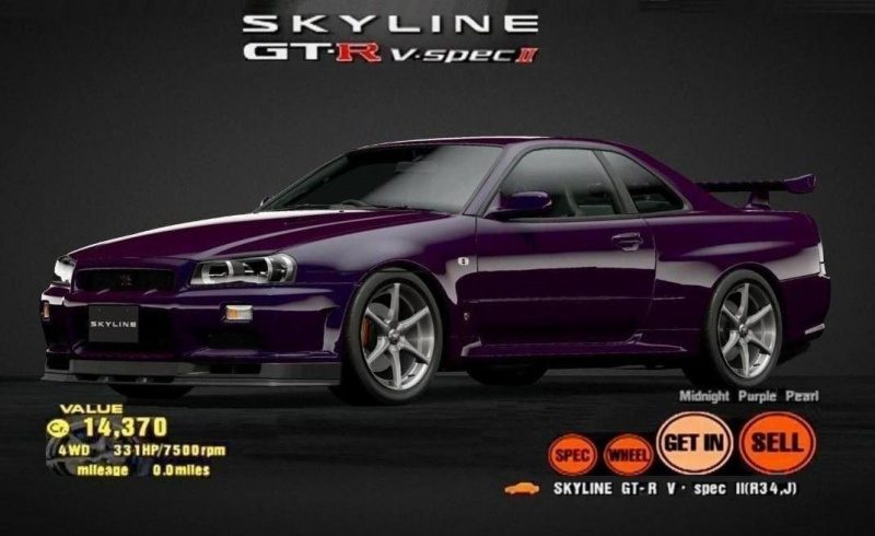 Nissan SKYLINE GT-R V-spec (R34) Midnight Purple Pearl-Custom Garage Photo.jpg