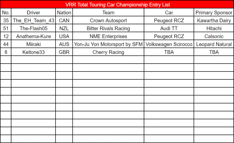 Total Touring Car Championship Entry List Update 1.png