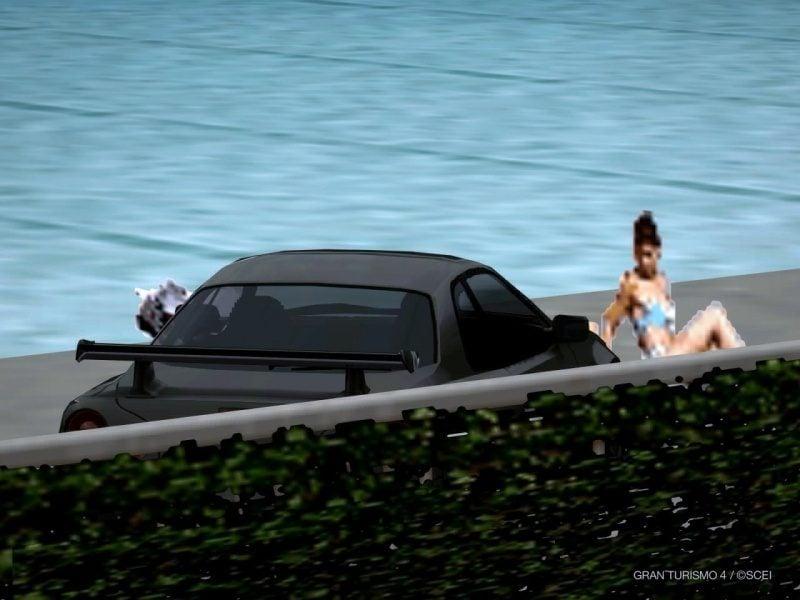 Two Pool Girls With Nissan GT-R Wall Breach Glitch At Côte d'Azur 2.JPG