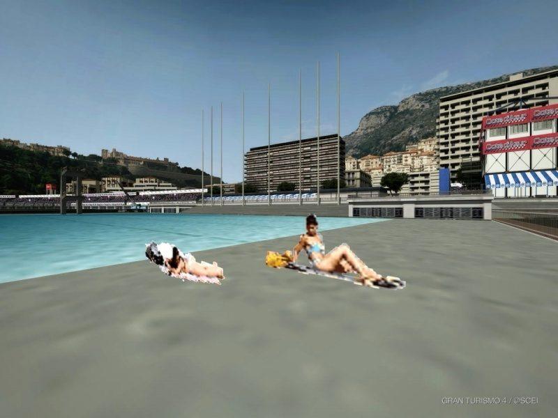 Two Pool Girls With Nissan GT-R Wall Breach Glitch At Côte d'Azur 3.JPG