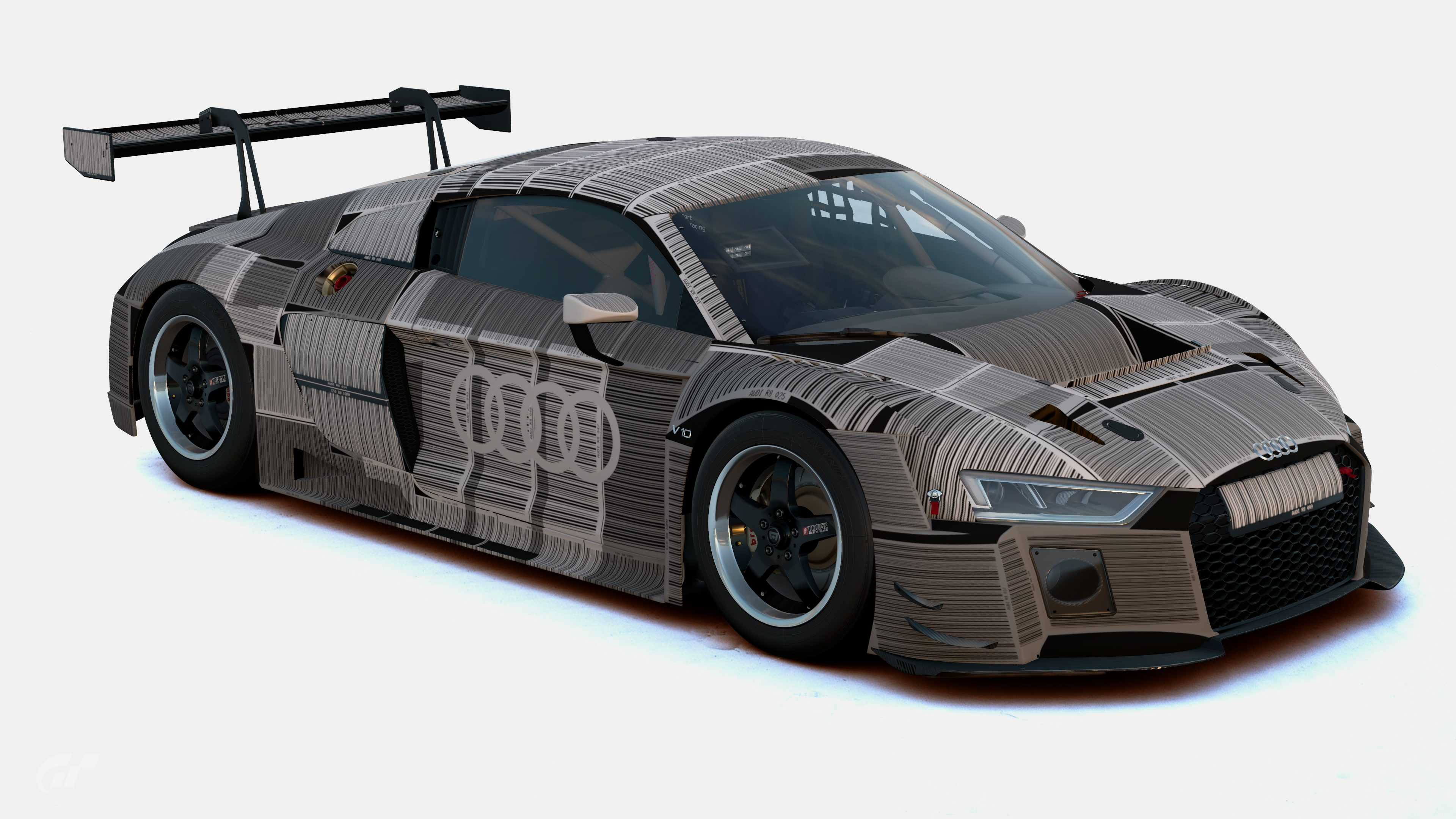 Audi R8 Lms 15 Barcode Camo Front