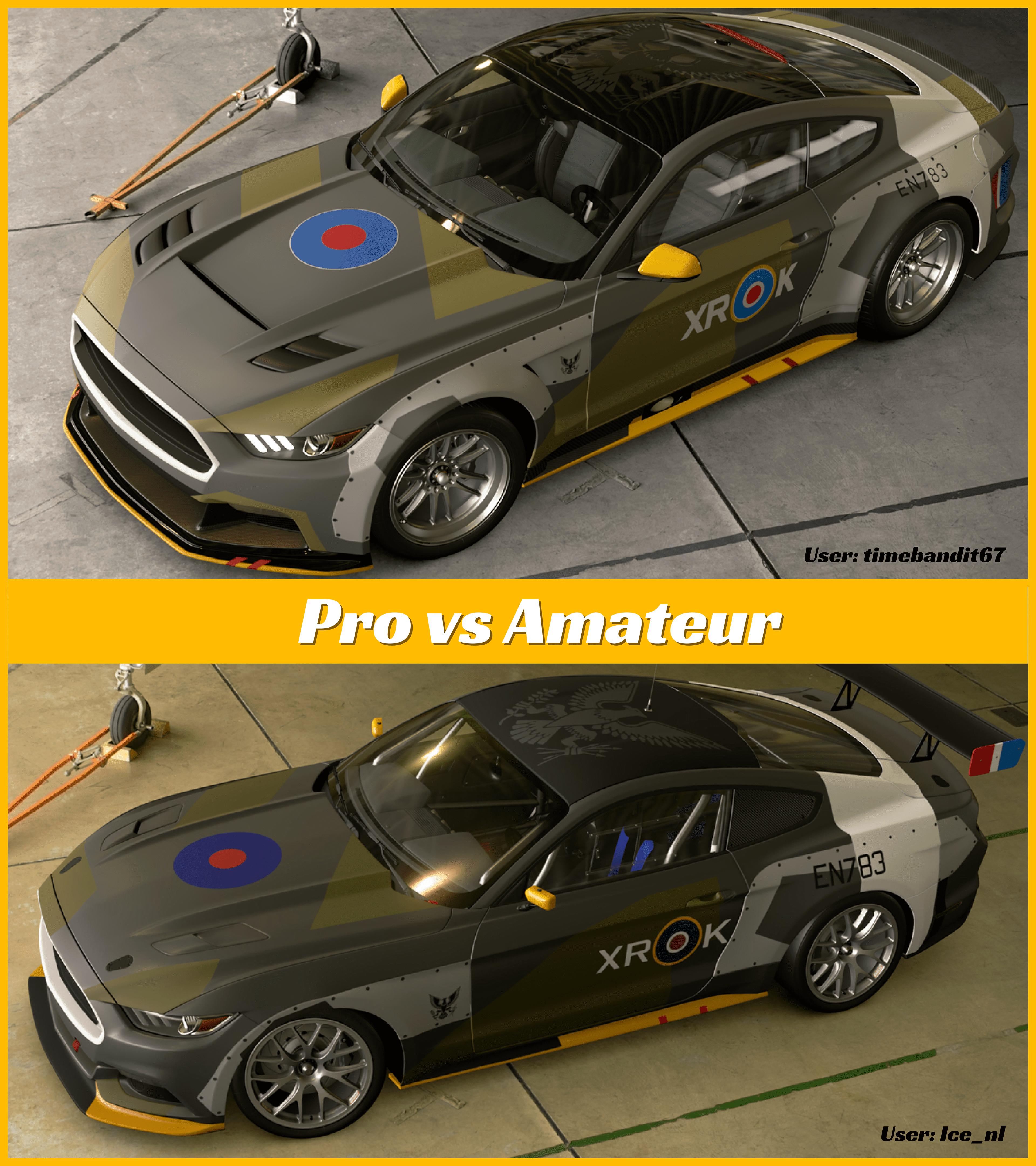 Gran Turismo Sport Livery Pro Vs Amateur