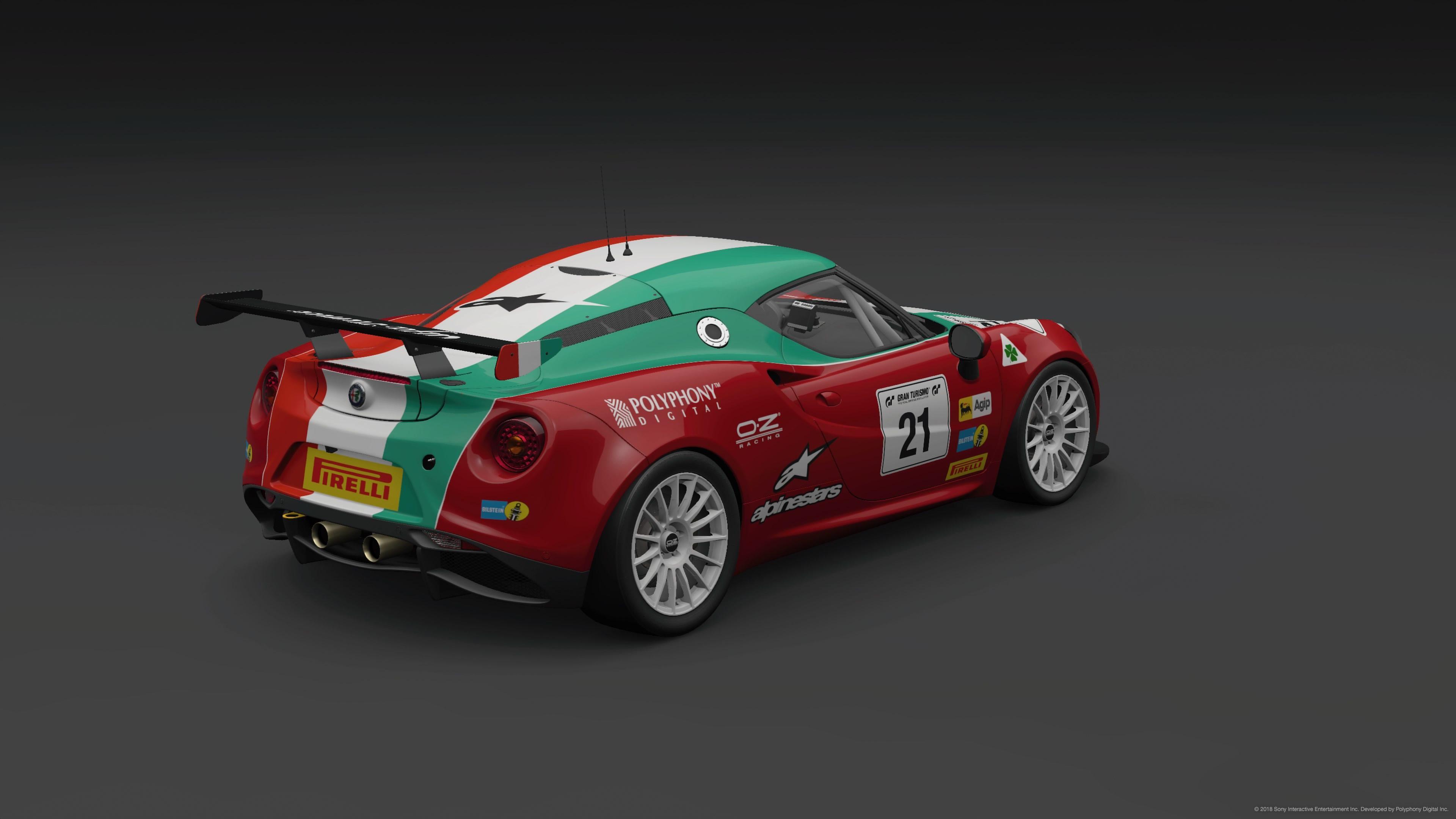 Italian Flag Alfa Romeo 4c Rear 3 4