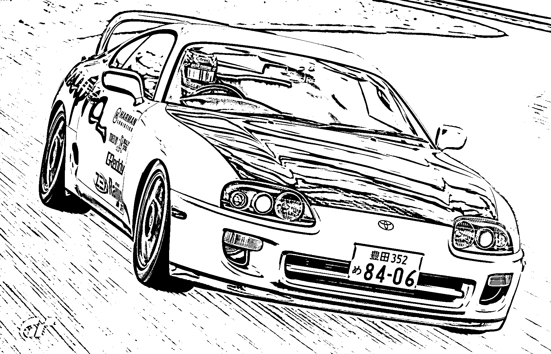 just addicted on making sketch versions of my GT Sport Scapes photos