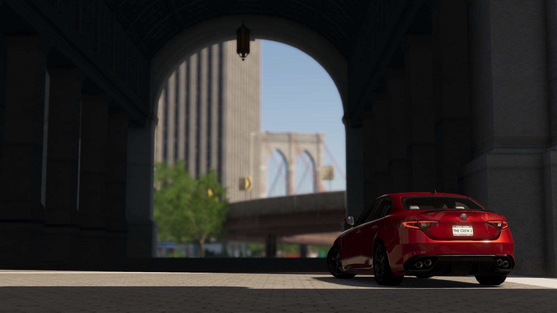 the crew 2 - alfa romeo giulia in that one building i can never