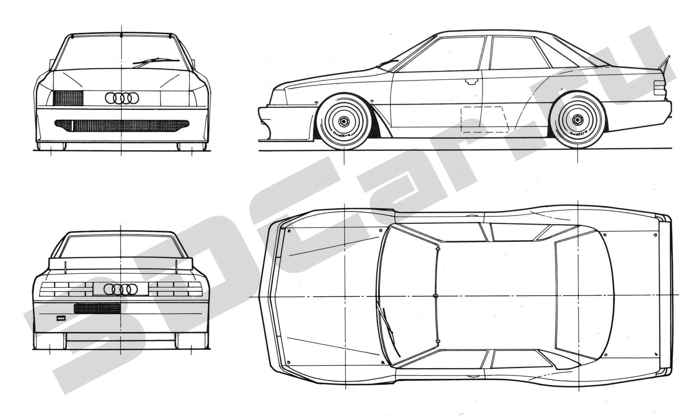 Audi 200 (C3) quattro Trans Am #44 Hurley Haywood 1988