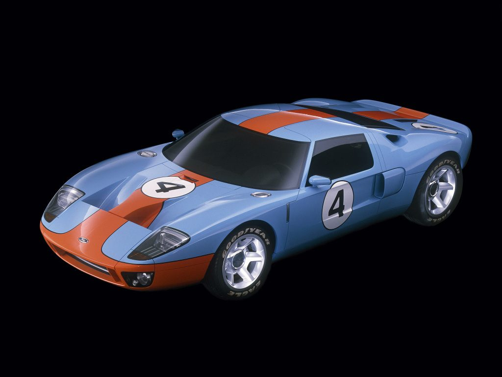 Ford GT Concept LM Race Car Gulf #4 [Premium] 2002