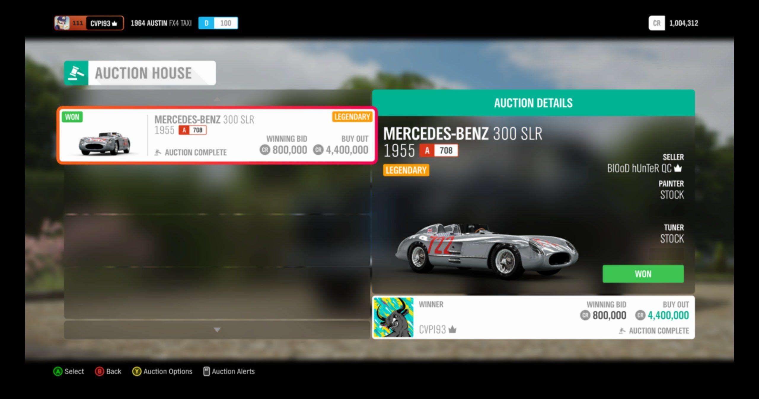 Forza Horizon 4 Auction House Thread