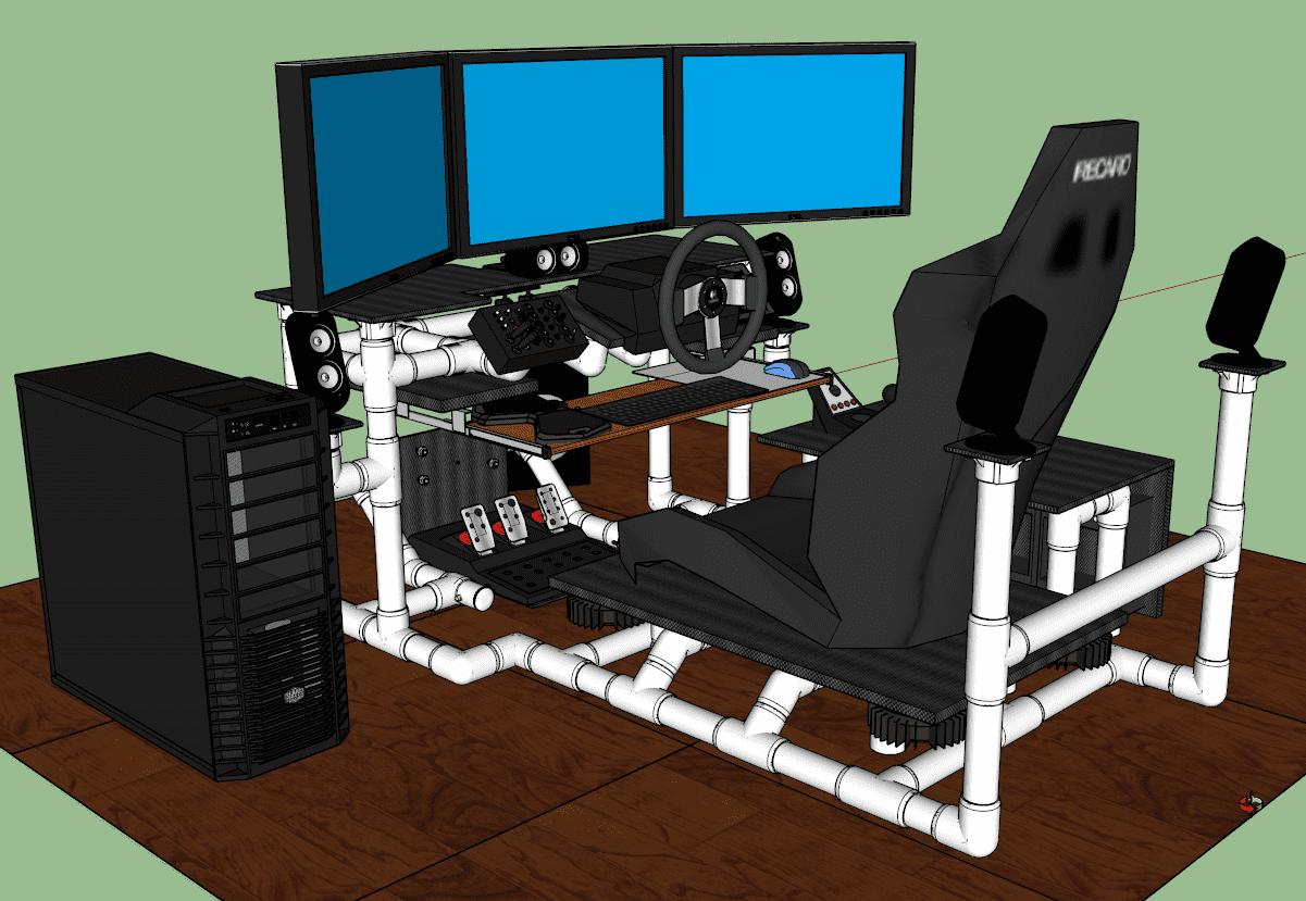 Enjoyable Sim Rig Gaming Desk My Diy Racing Rig Project Inzonedesignstudio Interior Chair Design Inzonedesignstudiocom