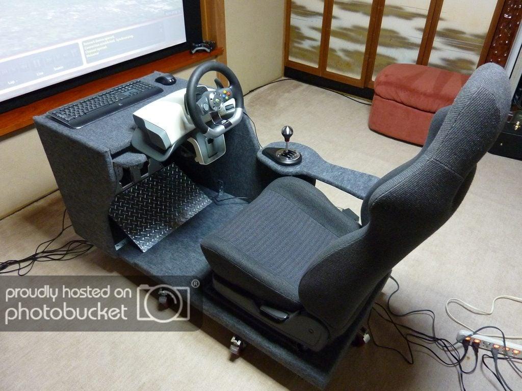 PROJECT LOG] My DIY SimVibe racing rig