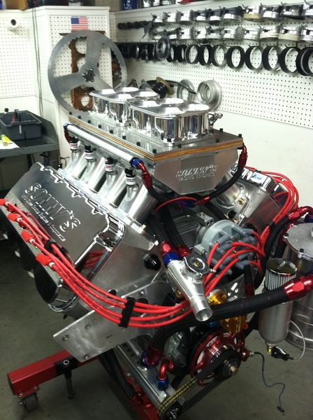 First 1000 Cu In V8 Being Built