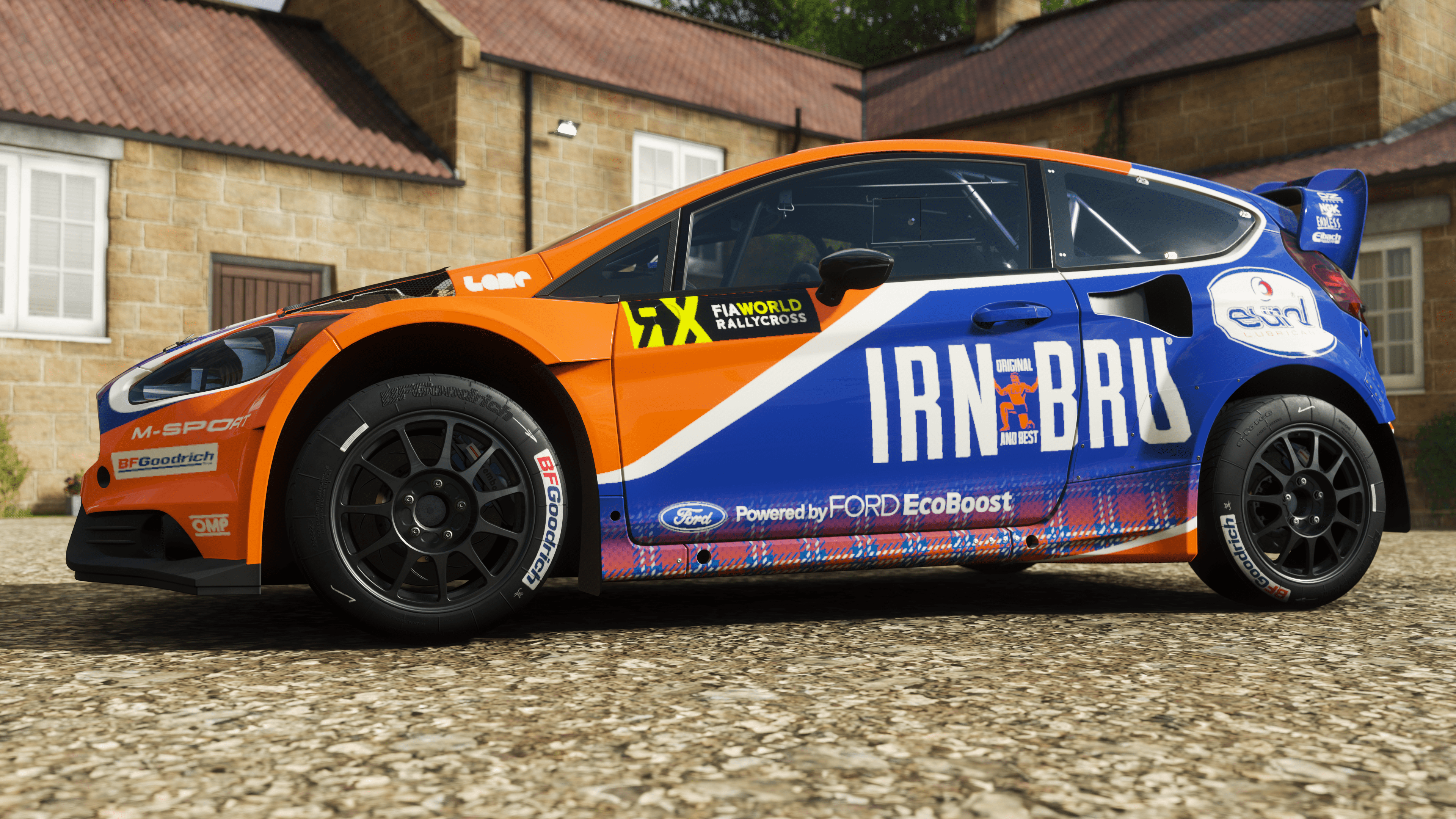 Dinnae feel right to be racing in scotland without the irn bru colors so there you have it my first livery made from scratch in forza horizon 4