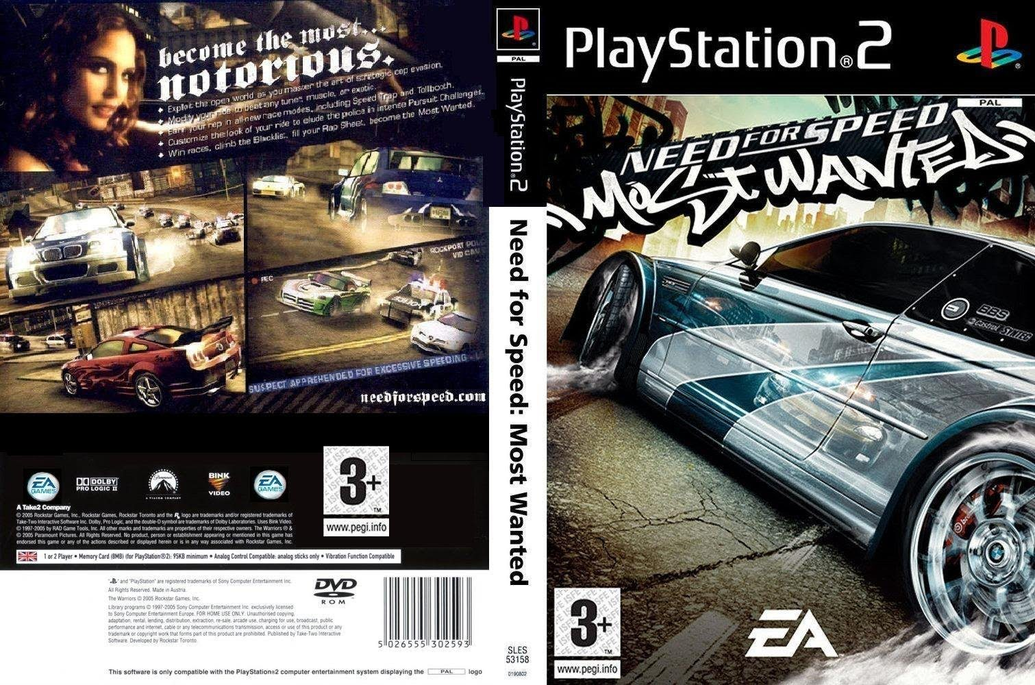 Need For Speed Most Wanted 2005 Paramount Logo On Uk Version Cover