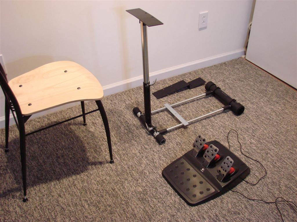 how to build a gaming wheel stand