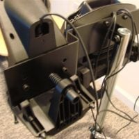 Wheel Stand Pro - Logitech G25 Shifter Attached